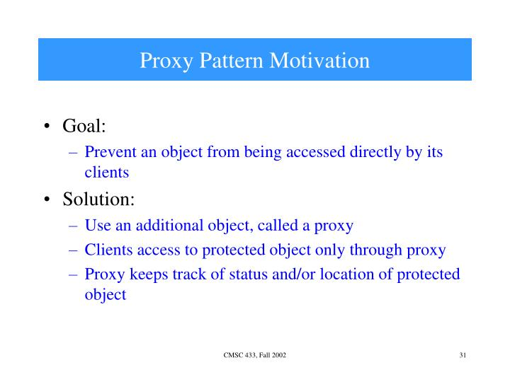 Proxy Pattern Motivation