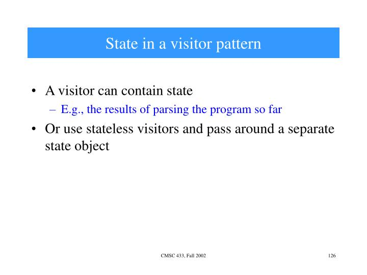 State in a visitor pattern