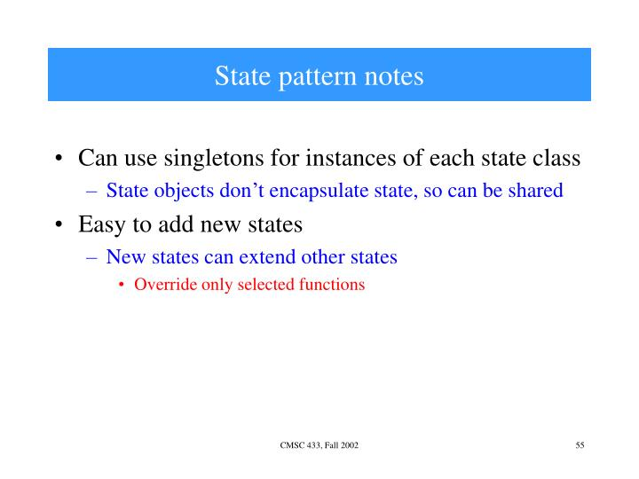 State pattern notes