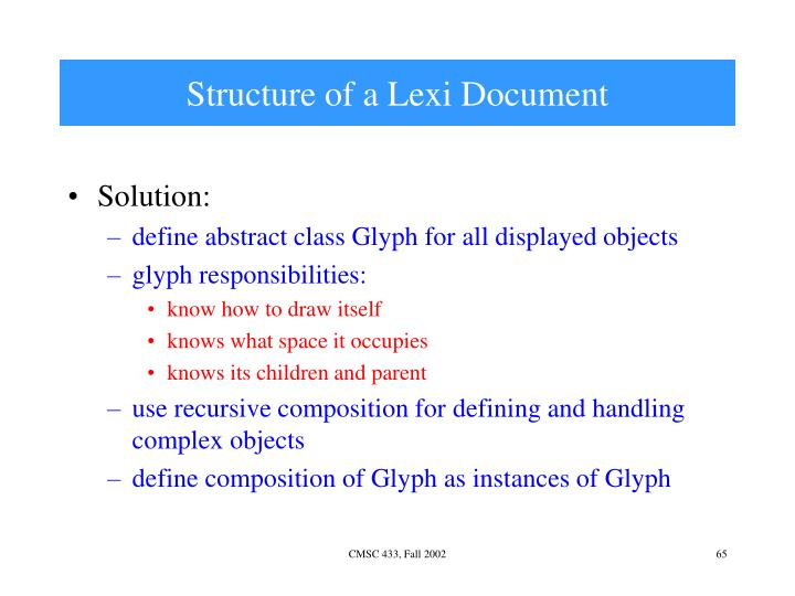 Structure of a Lexi Document
