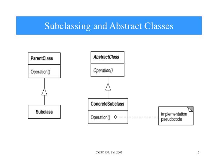 Subclassing and Abstract Classes