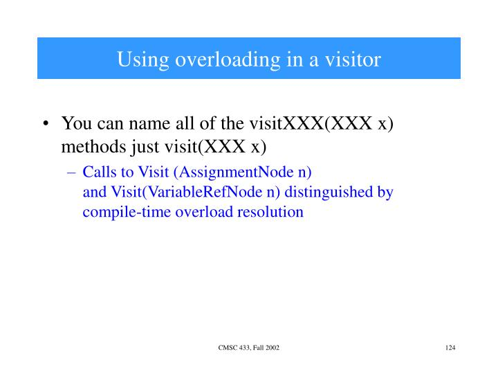 Using overloading in a visitor