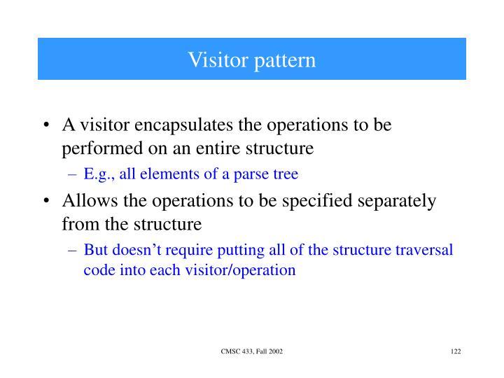 Visitor pattern