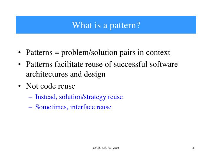 What is a pattern