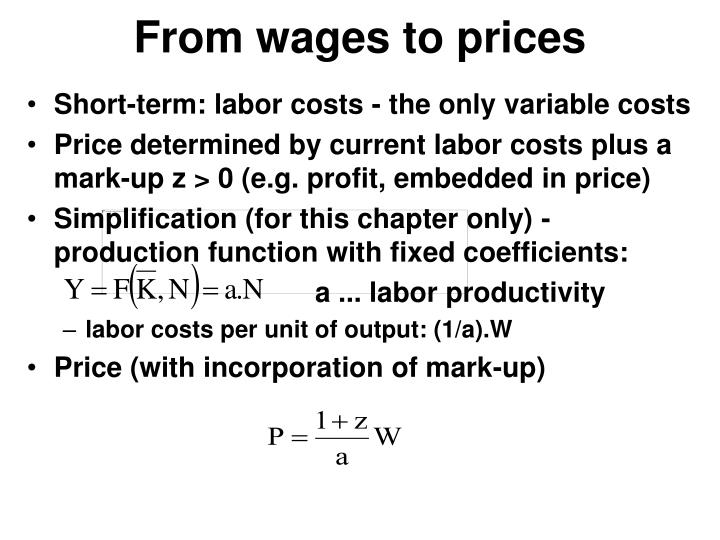 From wages to prices