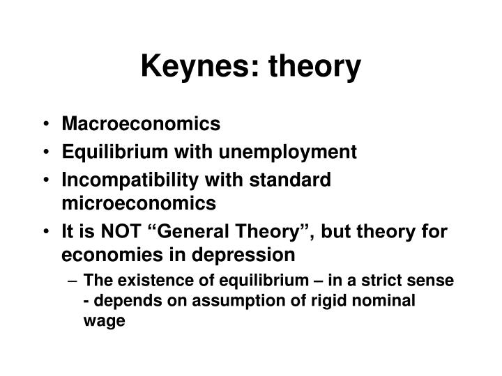 Keynes: theory
