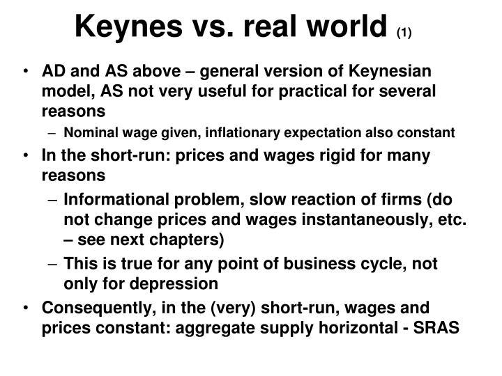 Keynes vs. real world