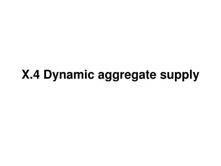 X.4 Dynamic aggregate supply