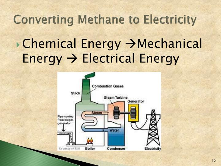 Converting Methane to Electricity