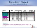 textsorten in framed wermter hahn lrec 2004
