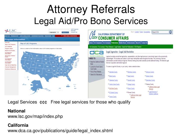 Attorney Referrals