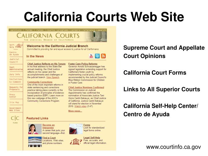 California Courts Web Site