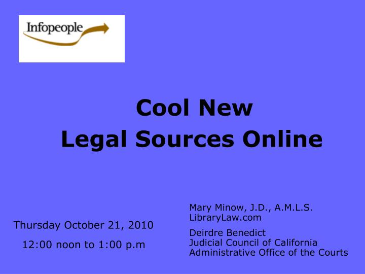 Cool new legal sources online