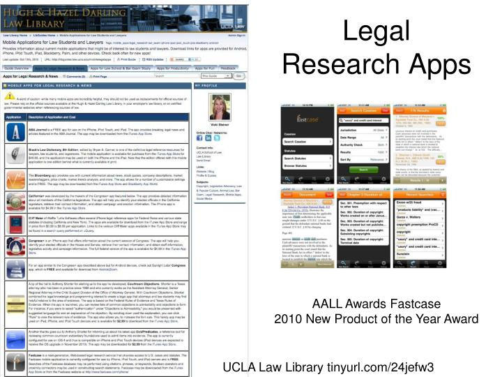Legal Research Apps