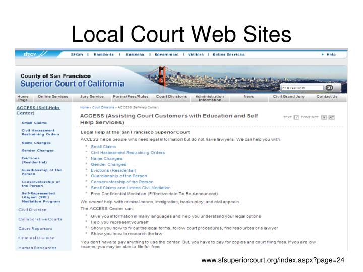 Local Court Web Sites