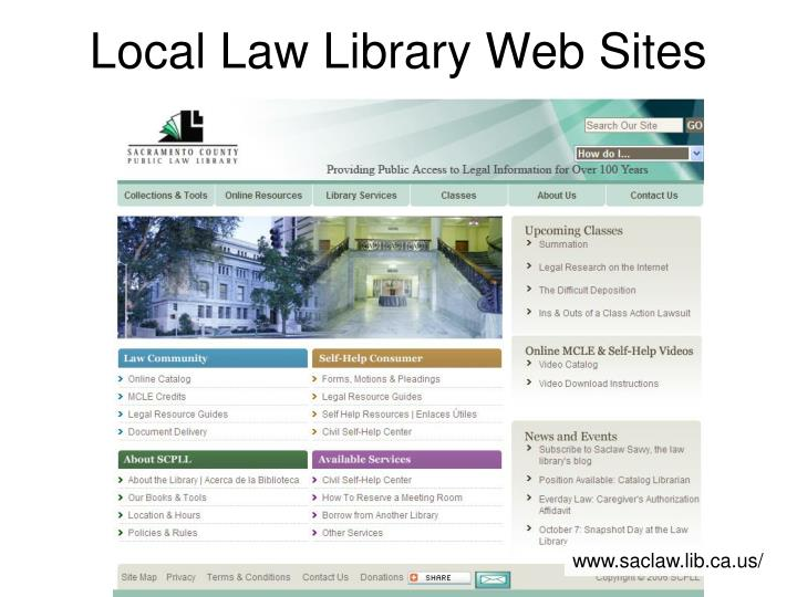 Local Law Library Web Sites