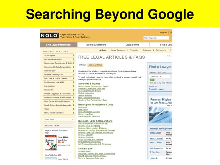 Searching Beyond Google