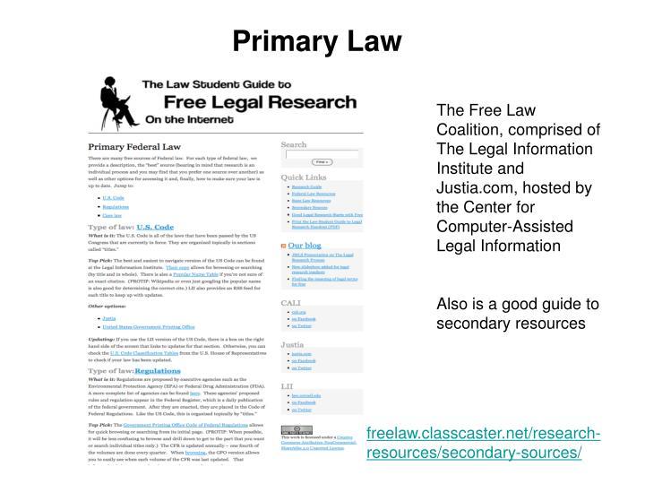 Primary Law