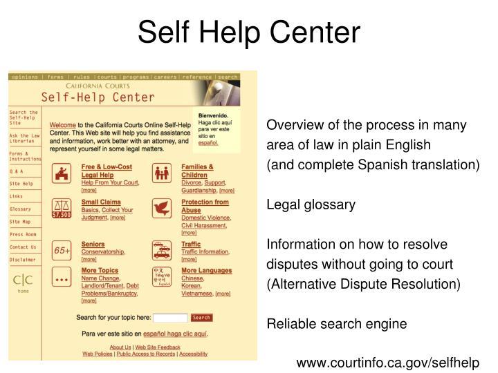 Self Help Center