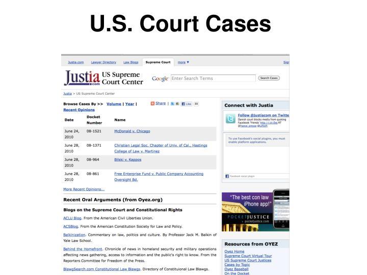 U.S. Court Cases