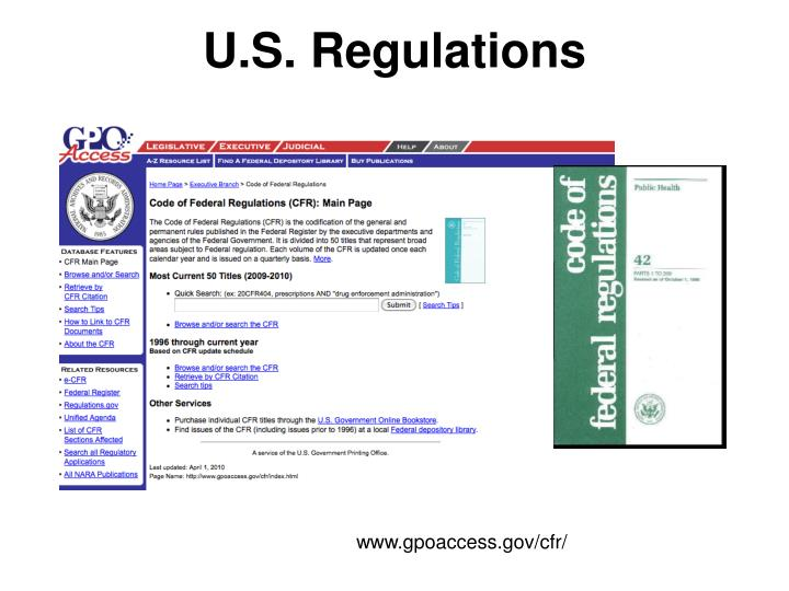 U.S. Regulations