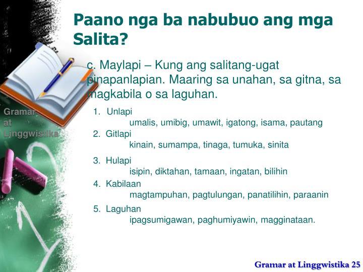 Paano nga ba nabubuo ang mga Salita?