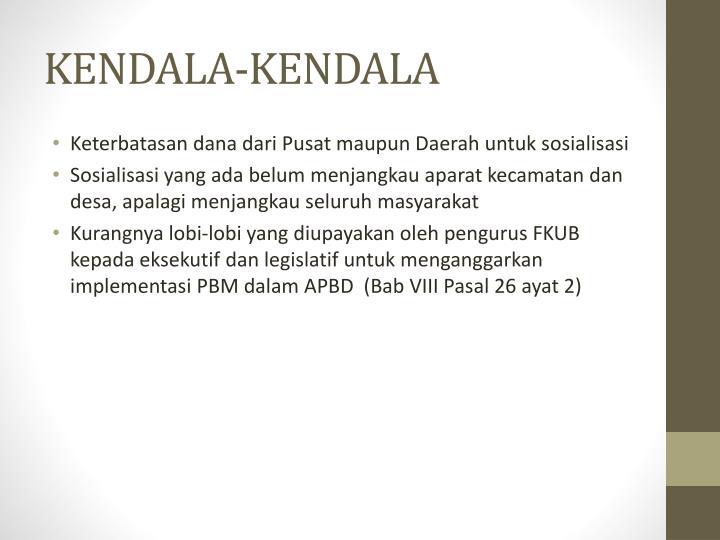 KENDALA-KENDALA