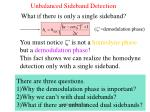 unbalanced sideband detection
