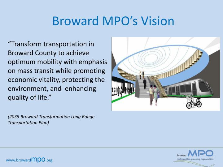 Broward MPO's Vision