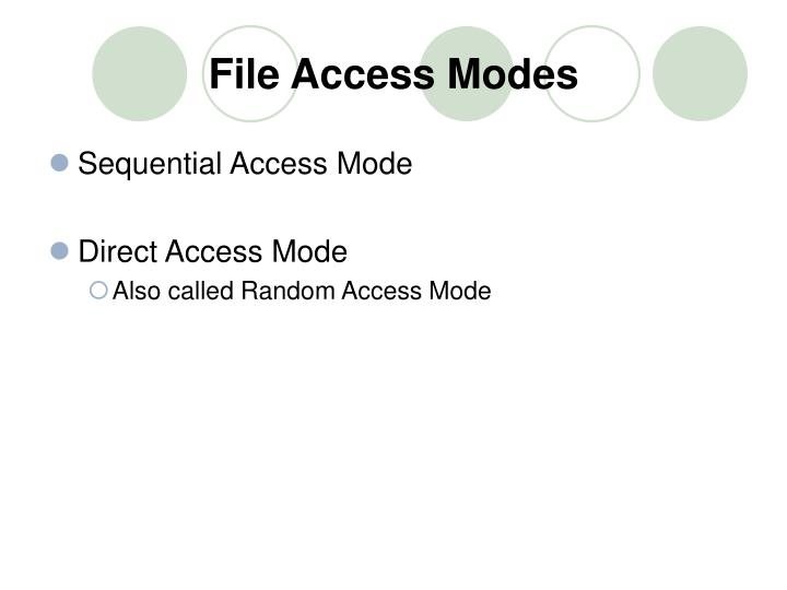 File access modes