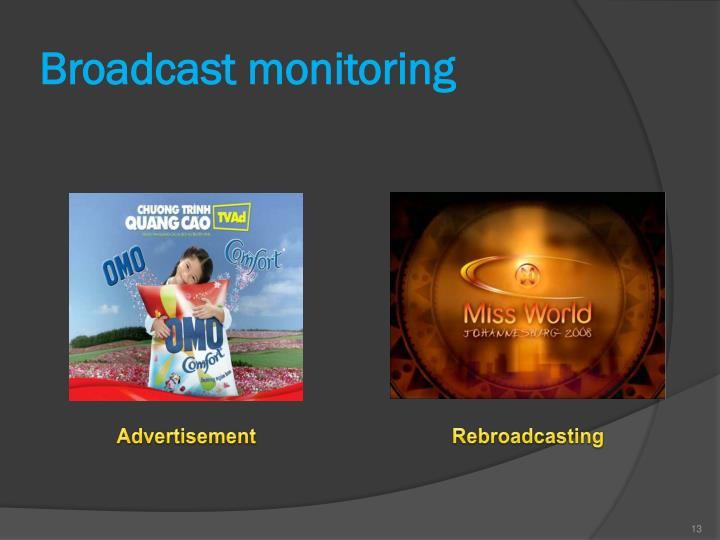 Broadcast monitoring