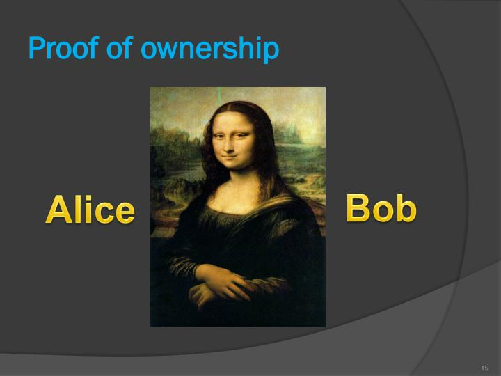 Proof of ownership