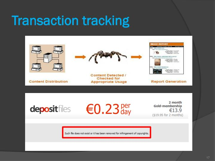 Transaction tracking