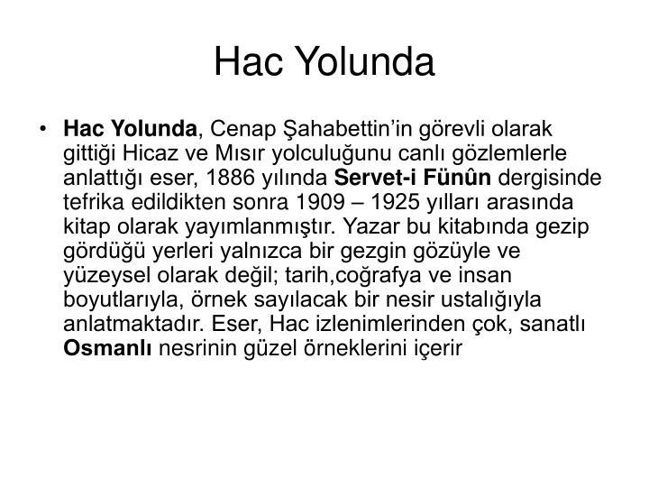 Hac Yolunda