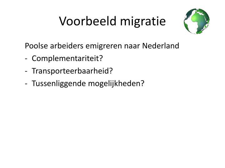 Voorbeeld migratie