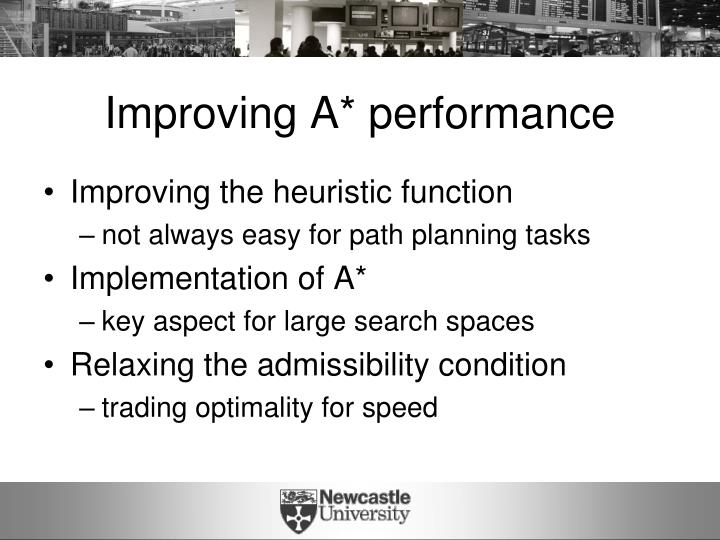 Improving A* performance
