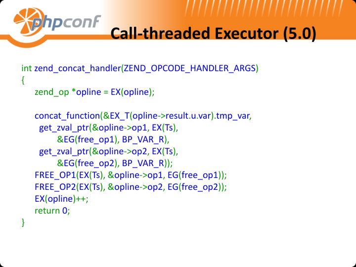 Call-threaded Executor (5.0)