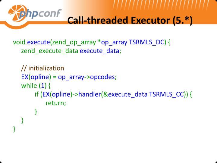 Call-threaded Executor (5.*)