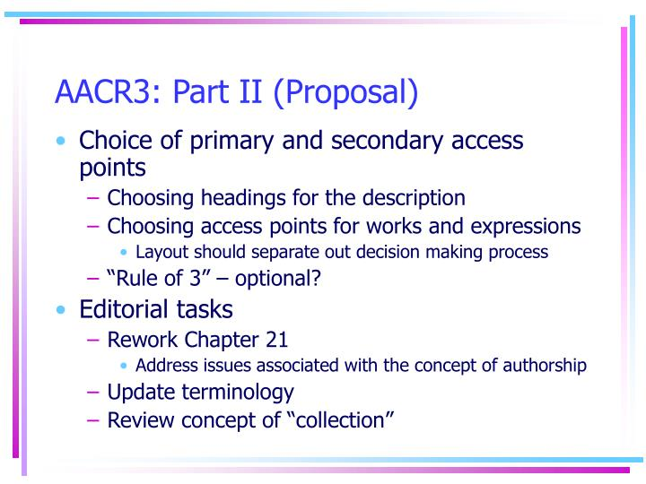 AACR3: Part II (Proposal)