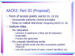 aacr3 part iii proposal