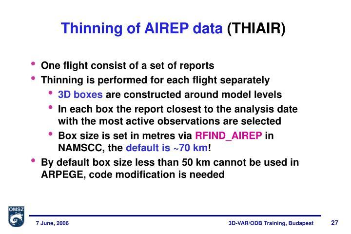 Thinning of AIREP data