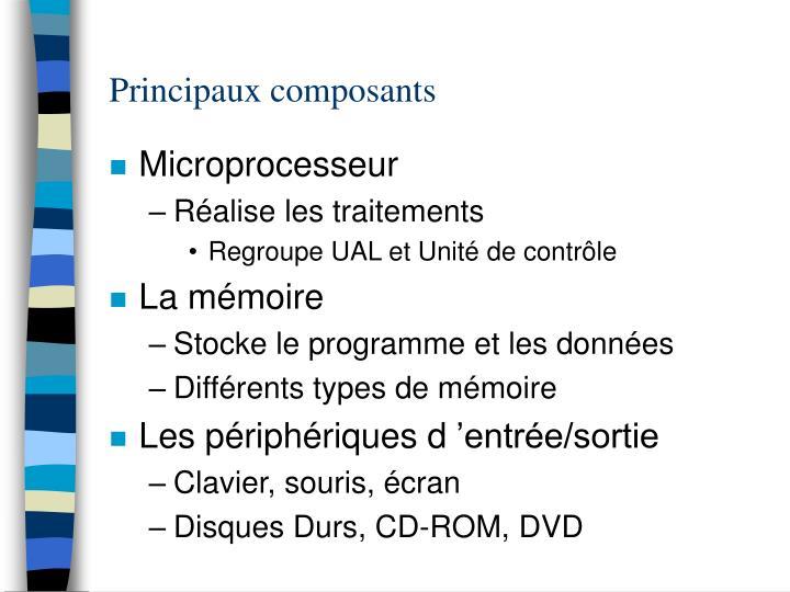 Principaux composants