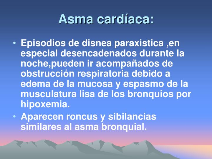 Asma cardíaca: