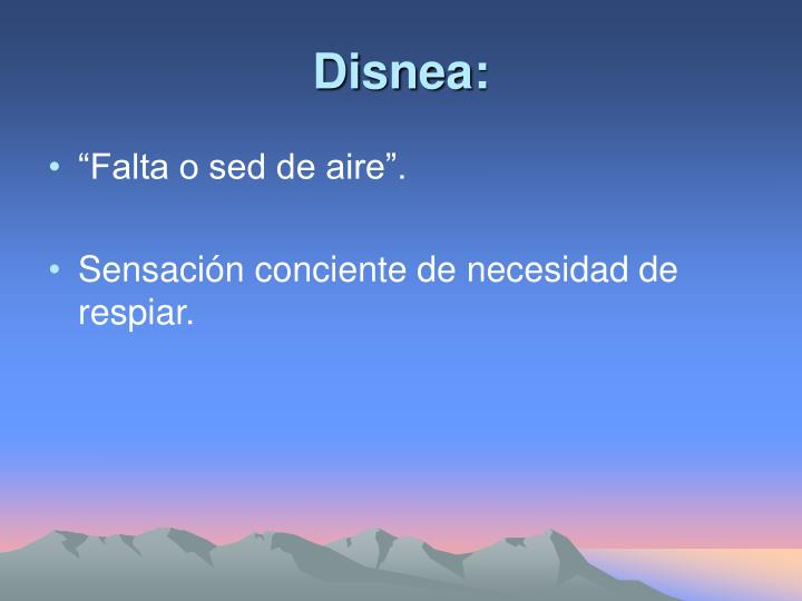 Disnea: