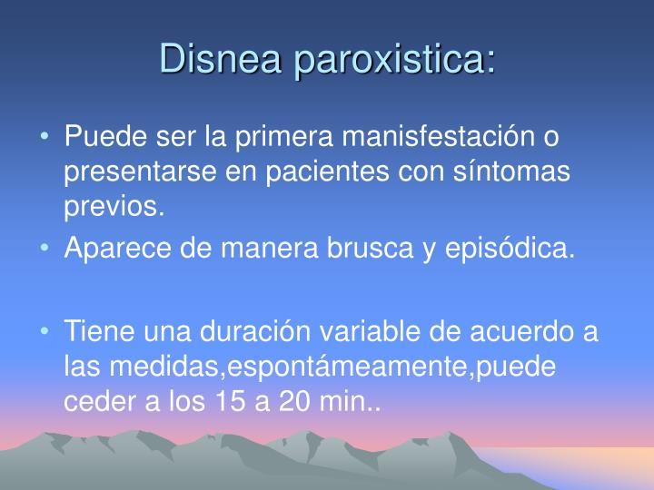 Disnea paroxistica: