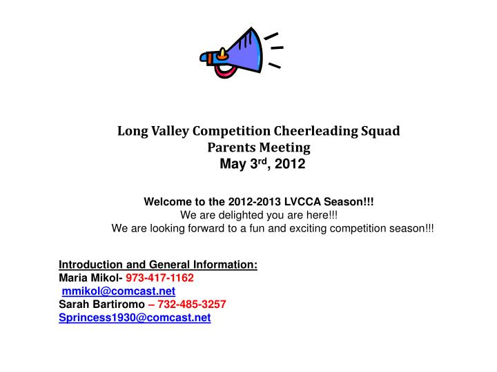 Long Valley Competition Cheerleading Squad