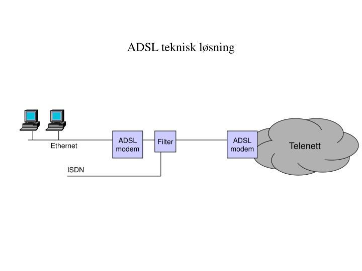 ADSL teknisk løsning