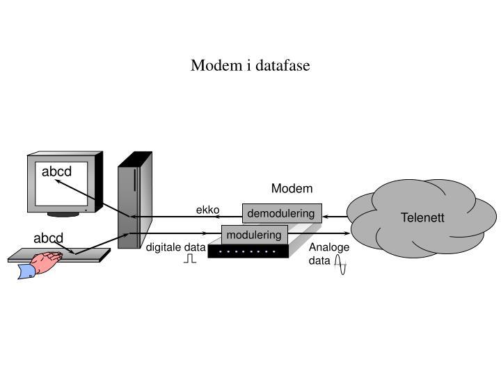 Modem i datafase