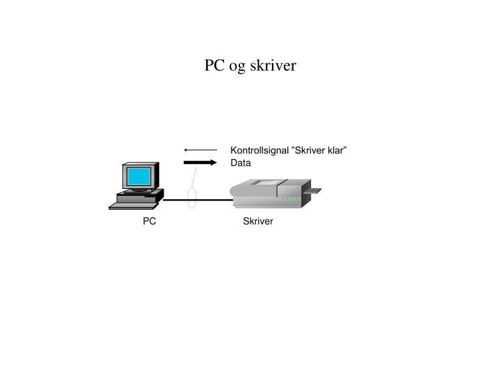 PC og skriver