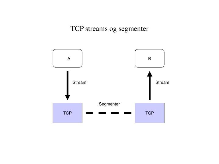 TCP streams og segmenter